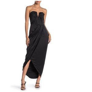 Yumi Kim Bombshell Strapless Silk Maxi Dress